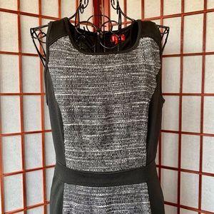 Elle Woven/Knit Paneled Career Midi NWOT